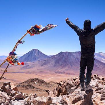 Höhenluft auf dem Vulkan Cerro Toco