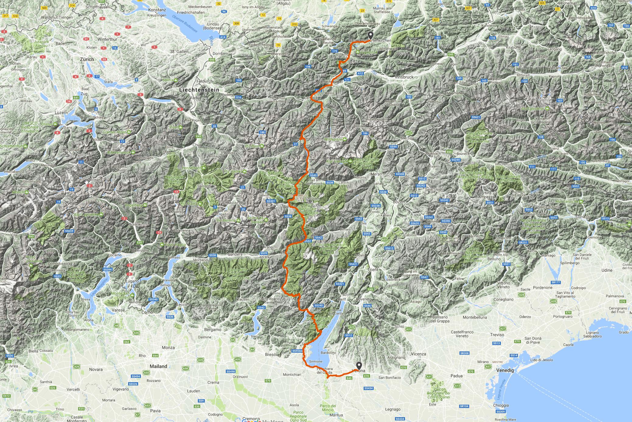 Höhenmeter Karte.6000 Höhenmeter Projekt Transalp Adventureblog Eu